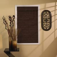 Lewis Hyman Tahiti Bamboo 63-inch Long Roman Shades in Cocoa Finish
