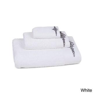Watercolor Embroidered Floral Hem 3-piece Towel Set
