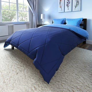 Down Alternative Solid Reversible 3-piece Comforter Set