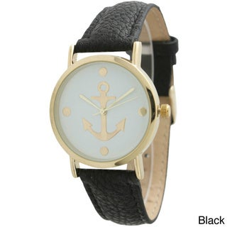 Link to Olivia Pratt Women's Anchor Emblem Leather Strap Watch Similar Items in Women's Watches