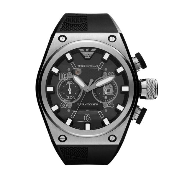 Emporio Armani Men's Sports AR4902 Super Meccanico Stainless Steel Watch - Black
