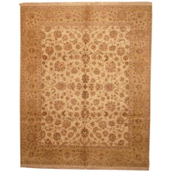 Herat Oriental Indo Hand-knotted Mahal Beige/ Tan Wool Rug - 8'2 x 10'2