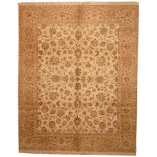 Herat Oriental Indo Hand-knotted Mahal Beige/ Tan Wool Rug (8'2 x 10'2)