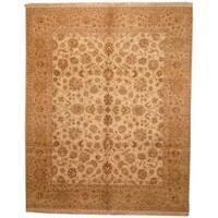 Handmade Herat Oriental Indo Mahal Beige/ Tan Wool Rug (India) - 8'2 x 10'2