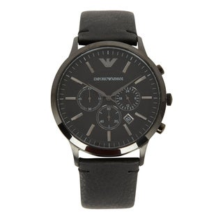 Emporio Armani Men's AR2461 Sportivo Black Leather Watch