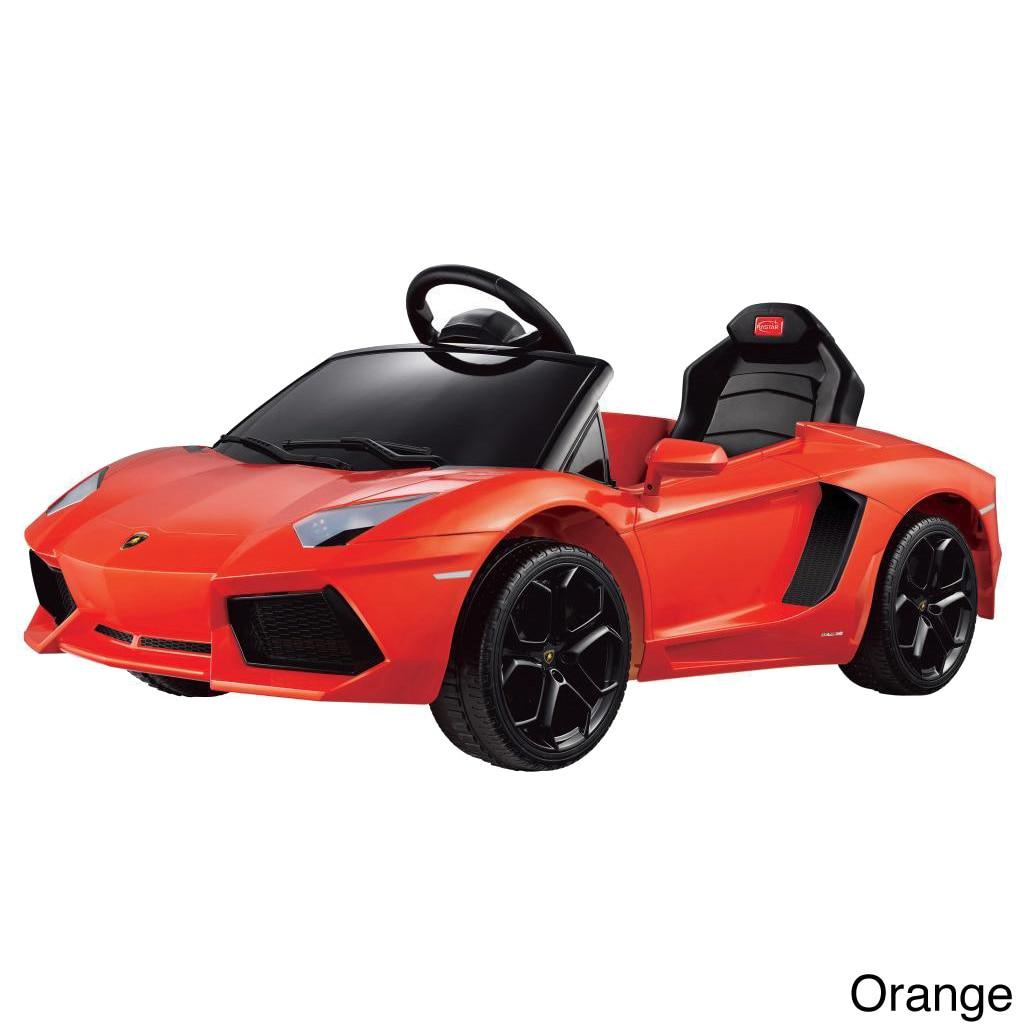 Details About Merske Lamborghini Aventador Lp700 4 Rastar 6v Remote Orange