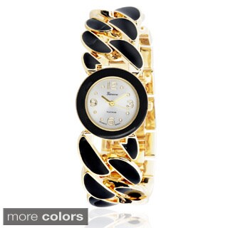 Geneva Platinum Women's Stainless Steel Link Watch