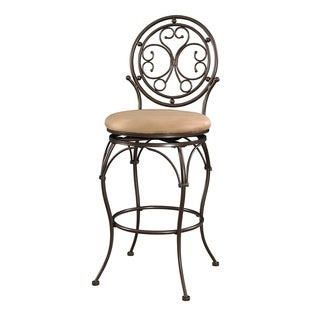 Powell Monaco Scroll Circle Back Counter Stool