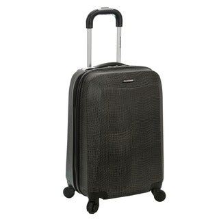 Rockland Vision Crocodile Print 20-inch Hardside Spinner Carry-on Suitcase