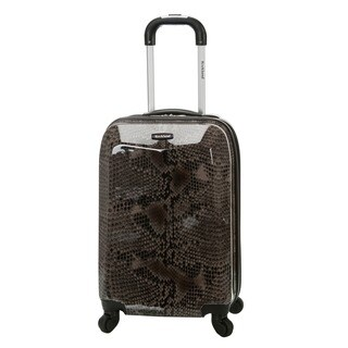 Rockland Vision Snake Print 20-inch Lightweight Hardside Spinner Carry-on Suitcase