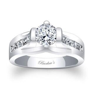 Barkev's Designer 14k White Gold 1ct TDW Diamond Engagement Ring