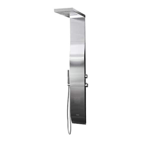 Boann Stainless Steel Rainfall/ Waterfall Shower Panel System with Hand Shower