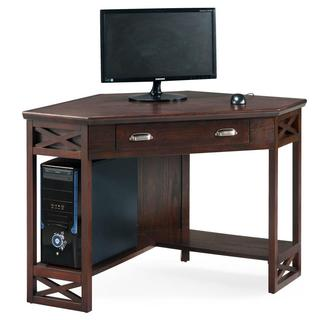 Chocolate Oak Corner Laptop Desk