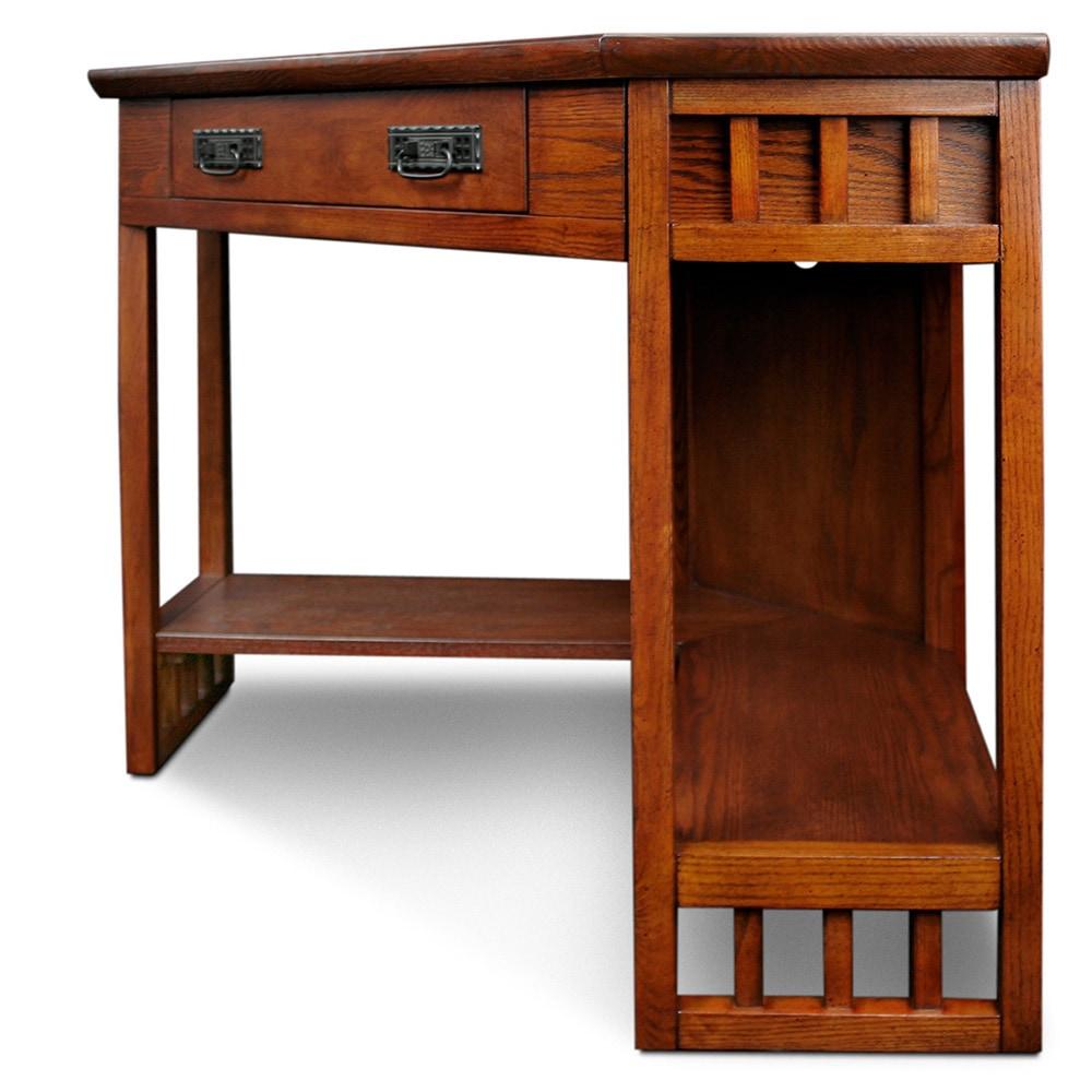 Computer desk for small spaces oak corner stand lap home - Corner desk for small space ...