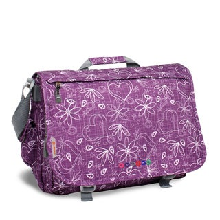JWorld New York Love Thomas Purple 17-inch Laptop Messenger Bag