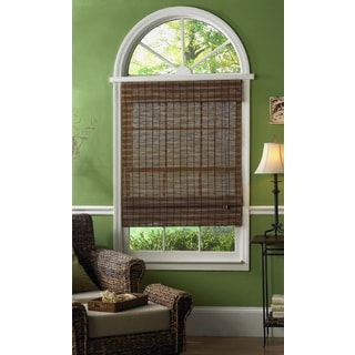 Lewis Hyman Maya Bamboo Roman Shades in Fruitwood Finish (Option: 71 Inches)