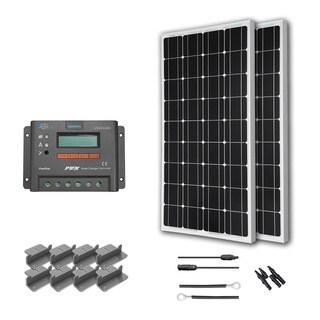 Renogy 200 Watts 12 Volts Monocrystalline Solar RV Kit - Viewstar Charge Controller