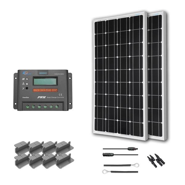 Shop Renogy 200 Watts 12 Volts Monocrystalline Solar Rv