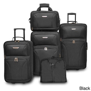Travelers Choice Versatile 5-piece Luggage Set (2 options available)
