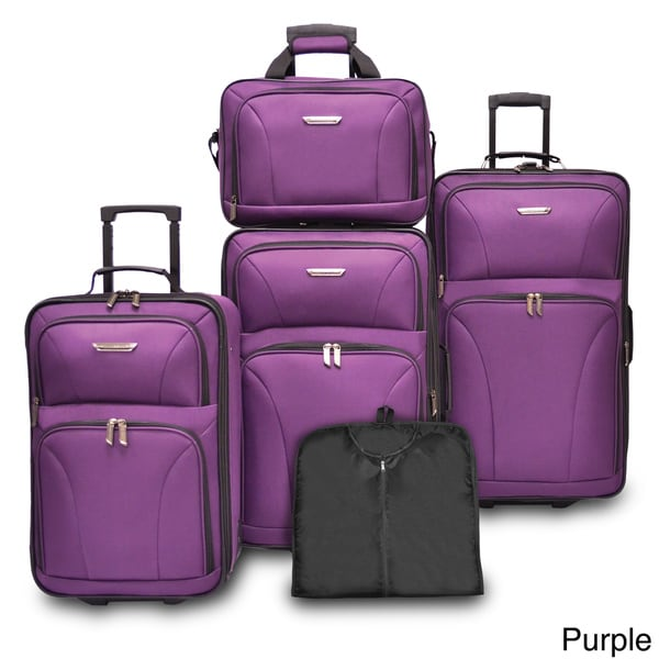 Shop Travelers Choice Versatile 5 Piece Luggage Set Free Shipping Today Overstock Com 9283972