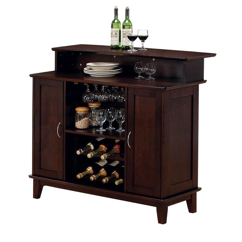 Coaster Furniture 2-door Cappuccino Bar Unit (Cappuccino)...