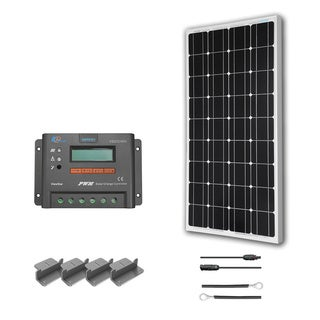 Renogy 100 Watts 12 Volts Monocrystalline Solar RV Kit - Viewstar Charge Controller