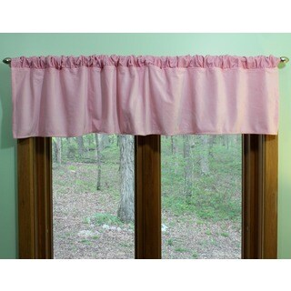Nurture Imagination Pink Velour Curtain Valance