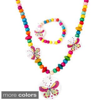 Girls' Multi-color Wooden Jewelry Set|https://ak1.ostkcdn.com/images/products/9284049/P16447130.jpg?impolicy=medium