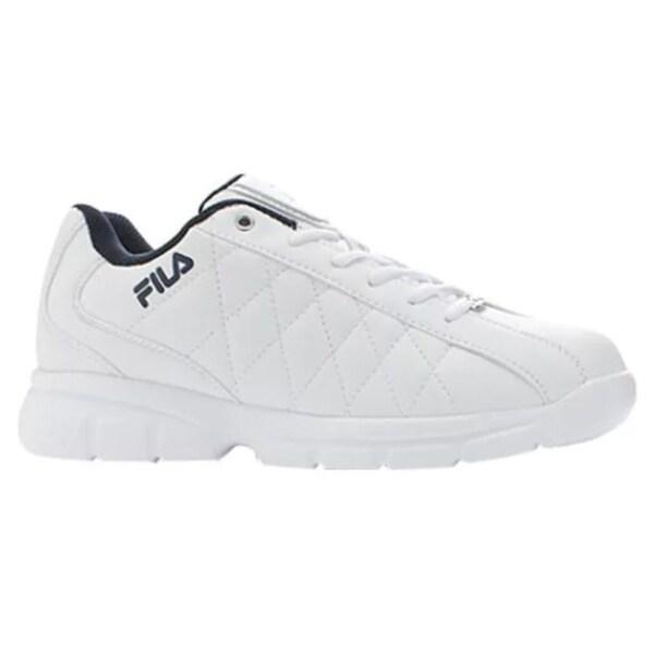e725ba1a0b Shop Men's Fila Fulcrum 3 White/White/Fila Navy - Free Shipping On Orders  Over $45 - Overstock - 9284720