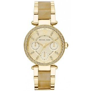 Michael Kors Women's Parker MK5842 Goldtone Stainless Steel Quartz Watch