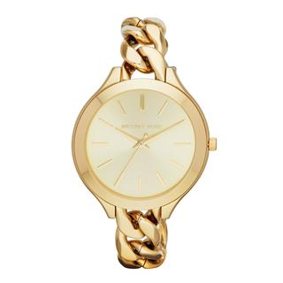 Michael Kors Women's Runway Goldtone Stainless Steel Quartz Watch