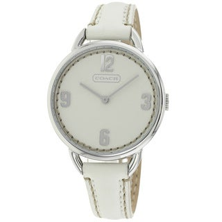 Coach Women's 14501806 Classic White Leather Watch