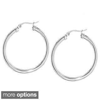 Goldplated or Stainless Steel 36mm Hoop Earrings
