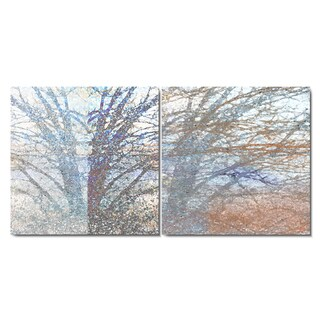 Studio Works Modern 'Winter Branches' Fine Art Gallery Wrapped Canvas 2-panel Set