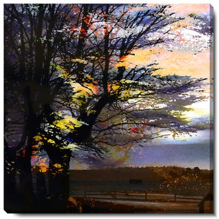 Studio Works Modern 'Evening Foliage' Fine Art Gallery Wrapped Canvas