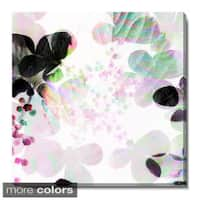 Studio Works Modern 'Breeze Floral' Fine Art Gallery Wrapped Canvas