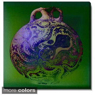Studio Works Modern 'Octopus Urn' Fine Art Gallery Wrapped Canvas