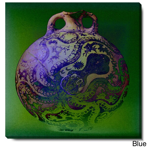 Studio Works Modern 'Octopus Urn' Fine Art Gallery Wrapped Canvas