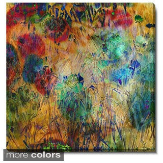 Studio Works Modern 'Reverie Floral' Fine Art Gallery Wrapped Canvas