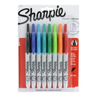 Sharpie Retractable Ultra Fine Tip Permanent Markers (Pack of 8)