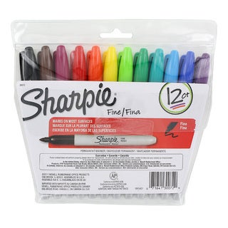 Sharpie Fine Point Assorted Permanent Markers (Pack of 12)