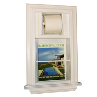 Key West Series 2 Recessed Magazine Rack with Toilet Paper Holder