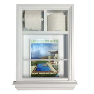 Key West Series 4 Recessed Magazin Rack plus Double Toilet Paper Holder