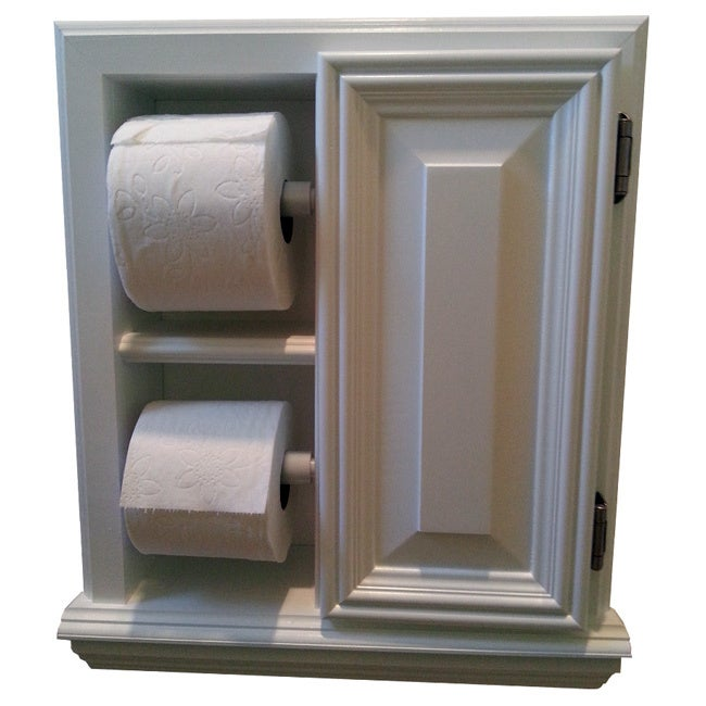 WG Wood Products Deltona Series Deluxe Recessed Toilet Pa...