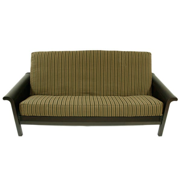 Outstanding Herringbone Black Stripe Full Size Futon Cover Caraccident5 Cool Chair Designs And Ideas Caraccident5Info