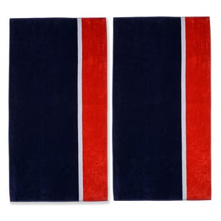 Superior Collection Oversized Bay Cotton Jacquard Beach Towel (Set of 2)