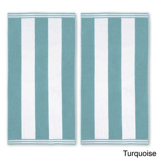 Superior Oversized Cabana Stripe Cotton Jacquard Beach Towel (Set of 2) (More options available)