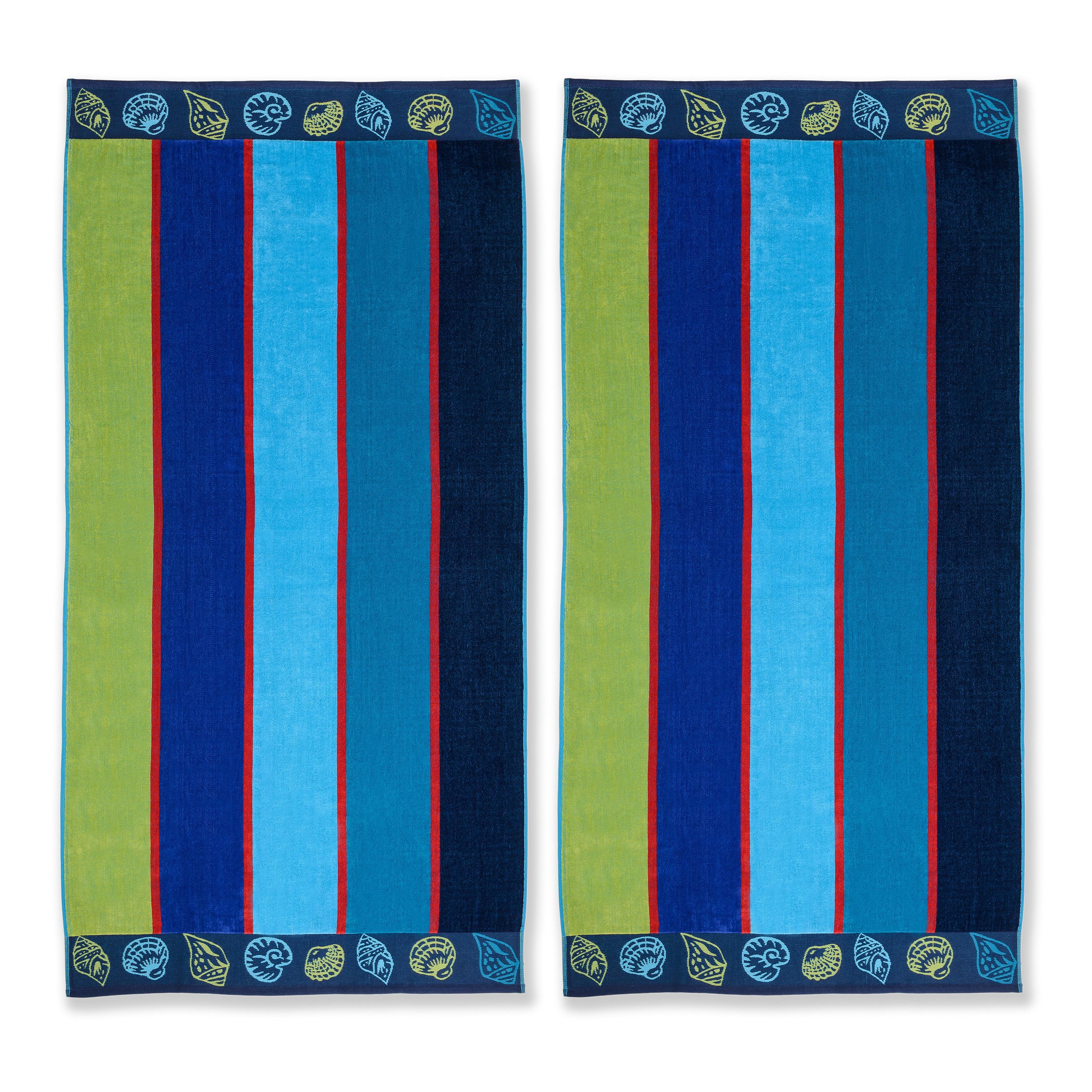 Cotton Jacquard Beach Towel Set
