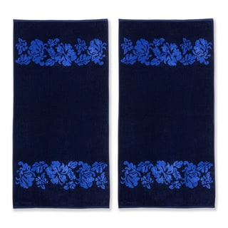 Link to Superior Oversized Beach Flower Cotton Jacquard Beach Towel (Set of 2) Similar Items in Towels