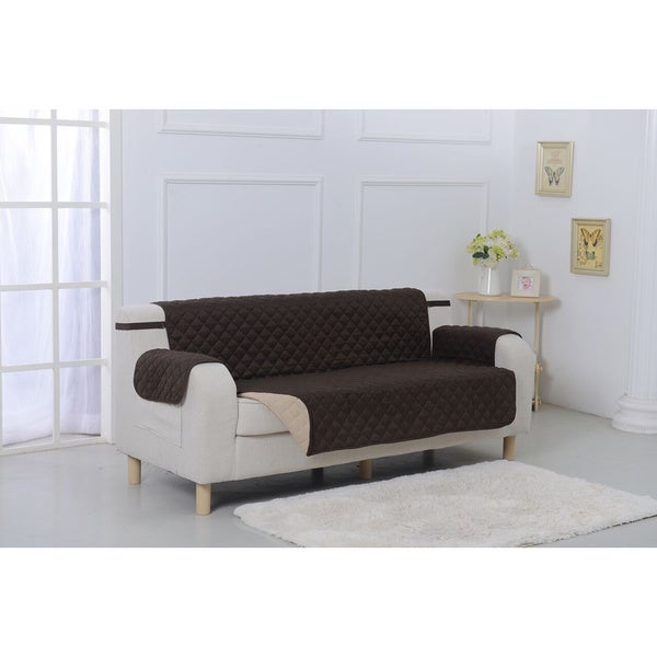 Suede Microfiber Reversible Quilted Sofa Furniture Protector Free Shipping On Orders Over 45